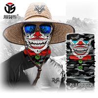 Wholesale Camouflage Skull Mask - Wholesale- 3D Seamless Headband Camouflage Joker Clown Skull Ghost Neck Warmer Face Mask Bandana Headwear Halloween Scarf Hats