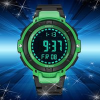 Wholesale ohsen led watch - 2017 new OHSEN Digital Watch Men Running Sport Watch Men Rubber Band LED Water Resistant Electronic Wrist Watch