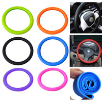Wholesale Silicone Vw - 7 Colors Optional Soft Silicone Steering Wheel Cover Shell Skidproof Eco Friendly for Mercedes Audi Nissan VW Peugeot Mazda CIA_100