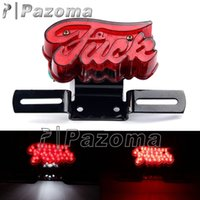 Wholesale Choppers Bike - Motor Bikes 12 Volt LED Tail Lights Taillamp Motorcycle Red Brake Stop Light For Harley Old School Choppers Bobber Cafe Racer
