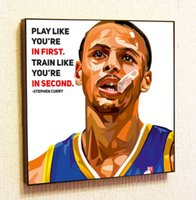 Wholesale Art Curries - Stephen Curry Backetball Painting Decor Print Wall Art Poster Pop Canvas