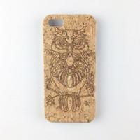 Wholesale I Phone Bumper Case - U&I Cork wood Cover Case for iPhone 6 6 plus 7 7plus Pc Bumper Mobile Phone Case for Apple IPhone