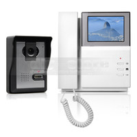 Wholesale Intercom Security Systems Home - 4.3inch Video Intercom Video Door Phone Doorbell 1 Camera 1 Monitor for Home   Office Security System