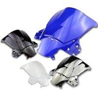 pára-brisas azul venda por atacado-Preto / Clear / Chrome / Windshield Windscreen Azul Para Honda CBR250R 2011-2013