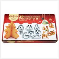 наборы для выпечки оптовых-Новый бренд 8 шт./ компл. DIY нержавеющей стали формы для выпечки 3D Рождество Cookie Cutter Рождество Cookie инструменты