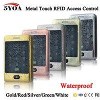 controle de acesso do teclado venda por atacado-5YOA RFID Controle de Acesso À Prova D 'Água 125KHZ Teclado Touch Access Sistema de Controle de Acesso Porta com KDL Metal Caso Shell Backlight Keypad