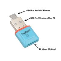 mikro sdxc okuyucu toptan satış-Exteral USB SD Kart Okuyucu Gerçek Ucuz İnanılmaz MINI 5 Gbps Süper Hızlı USB 3.0 + OTG Mikro SD / SDXC TF Kart Okuyucu Adaptörü