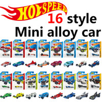 Wholesale Diecast 64 - LR1004 hot wheels Mini metal Basic Cars Alloy Diecast Vehicle model 1:64 Racing car Pickup kids toys wholesale (Single loaded 16style)
