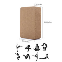 Wholesale Yoga Cork Block - Wholesale-High Quality Cork Wood Yoga Block Exercise Fitness High Density Practice Tool Natural Non-Slip Brick Home Health Gym