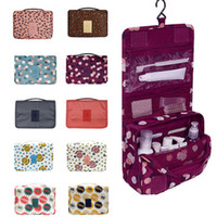 2017 Travel Cosmetic Organizer Bag Pouch Folded Portable Waterproof Hanging Case Wash Storage Organizador contendo sacos com gancho WX-B27