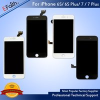 Wholesale Lcd Screen Panel Wholesale - Grade A +++ LCD Display Touch Digitizer Frame Assembly Repair For iPhone 6S 6S Plus 7 7 Plus & Free DHL shipping