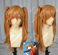Wholesale Evangelion Wig - Wholesale free shipping >>Neon Genesis Evangelion Asuka 75cm Straight Cosplay Party Wig