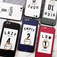 Wholesale apple phone sets for sale – best For Iphone Plus Cell Phone Case Finger Buckle Couple Lanyard Black Border Embossed Digital Phone Sets For Iphone S Plus