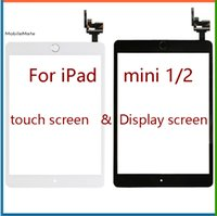 Wholesale Capacitance Screen - Free shipping or ems 100% Completed For iPad mini 1 mini 2 Touch Digitizer Screen With IC & Home Button Flex Cable