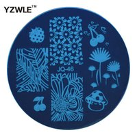 Wholesale stamping plates series - Wholesale- YZWLE 1 PC Optional JQ Series DIY Nail Art Lace Flower Stencils Stamping Template Printing Image Plates (JQ-46)