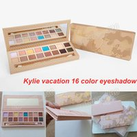 Wholesale Pen Best - Best quality kylie Jenner vacation 16 Color Palette Eyeshadow with pen brush& Eye shadow Palette Kyshadow kit free shipping