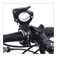 taschenlampe halterung großhandel-Radfahren Fahrrad Licht Lampe Ständer Halter 360 ° Drehgriff LED Taschenlampe Clamp Clip Halterung Zubehör Kostenloser Versand