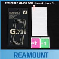 huawei 3c ekran koruyucusu onuruna toptan satış-Huawei Onur 3C temperli cam için 200 adet Toptan 0.3mm Huawei Onur 3C ekran koruyucu için Huawei Onur 3C temperli koruyucu film