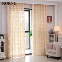 Sheer Curtains Grommet Door Norne Modern Tulle Window For Living Room The Bedroom Kitchen