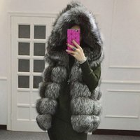 Wholesale Water Mink Fur - 4xl 2017 Europe and the United States autumn and winter new fur coat imitation fur fox fur vest water mink coats