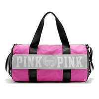 Wholesale Volleyball Duffel - Fashion Pink Letter Storage Bag Large Men Women Travel Duffel Bag Waterproof Casual Beach Exercise Luggage Bags Little Bags Inside