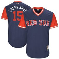 Wholesale Red Purple Laser Show - Baseball Jerseys Mlb Sports Boston Red Sox Dustin Pedroia Laser Show Majestic Navy 2017 Players Weekend Authentic Jersey Throwback Cheap Cus