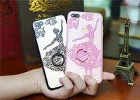 Wholesale Apple Shaped Iphone Stand - Fashion girls silicone back case for Apple iPhone7 ring-shaped support stand function back cover for iphone7 plus