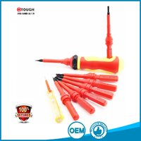 Wholesale Screwdriver Tester - 9in1 professional electricians screwdriver set 8 single blade with plastc insulation handle and 1 test pencil voltage tester