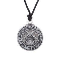 Wholesale Necklace Teen - comejewelry Odin's Raven &Teen Wolf Valknut Amulet Norse Viking Runes Triskelion Symbol Triskele Men Pagan Symbol Trinity Ethnic Necklace