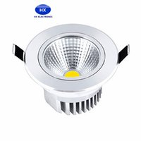 30pcs / lot AC85-265V 9W 12W 15W 18W 21W Spot LED DownLight Dimmable LED COB Spot Éclairé Basse Downlights léger