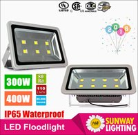 Wholesale Led Lights Fixtures Wholesale - Newest 300W 400W led flood light outdoor lamp AC 110-277V led canopy lights waterproof led floodlights fixture lamp+3 years Warranty