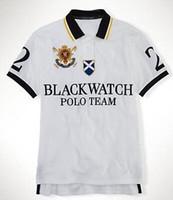 Wholesale Horse Custom - Brand New Polo Shirt Men Black Watch Classic Tees Casual Custom Fit Short Sleeve Cotton Big Horse Polo Team T-Shirts S-XXL