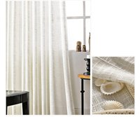 Wholesale Voile For Curtain - Hot sale modern simple pure white Translucidus linen cotton window sheer curtains voile for living room bedroom 1pcs wholesale fabric price