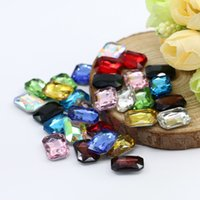 Wholesale Different Shapes - 6x8mm Good quality stone Octagonal Shape 100pcs bag Glass K5 Point Back Fancy Stone Silver Foiling Gemstone (10 Different Color Available)