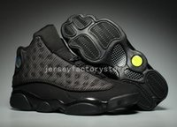 Wholesale Reflect Free - (With Box) Cheap New Air Retro 13 OG Black Cat Men's Basketball Shoes 3M Reflect 13s Black Cat Athletics Sneakers High Quality Free shipping