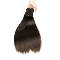 4 Pacotes Extensão de Cabelo Humano Direito Cor Natural 2 4 Brown Indian Virgin Hair Weave Bundles Sedoso Straight 8-28 inch