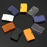 Wholesale Gba Free Shipping - Battery Door Cover Shell Case Lid For GBA Gameboy Advance Battery Cover Case Replacement DHL FEDEX EMS FREE SHIPPING