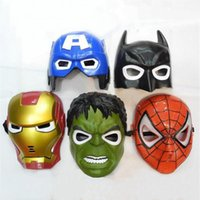 Masques à LED Masques Flash Captain America Super-héros Iron Man Jouets Lumineux Flash Spiderman Batman Hulk Masque Fête Masques Fournitures