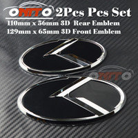 2pcs / lot Head Bonnet Label Cover pour KIA OPTIMA K2 / K3 / K4 / K5 sorento voiture Tail boot 3D autocollant arrière Logo Front Hood Car Emblem auto styling