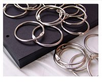 album rings inch achat en gros de-3Pcs / Lot 50mm Album de photos en vrac Carte d'album photo de 10 pouces Cercle Anneau Boucle Snap Ring Reliure Iron Circle Album