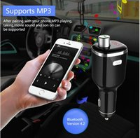 Wholesale Universal Detection - New BC23 Car Dual USB Mp3 Kit Mufti-function Car Charger Support U-disk FM Transmitting Voltage Detection Bluetooth Handsfree