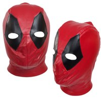 Wholesale deadpool costume accessories online - Mask Accessories Cosplay X Men Deadpool Deadpool Mutants Wade Headwear Costume Accessories Prefect PU One Size Handmade High Quality