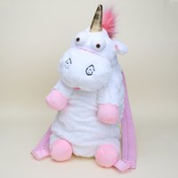 Wholesale Despicable Unicorn Backpack - Wholesale-Despicable Me plush unicorn Leisure bag unicorns toy plush backpack toys for girls kids gift