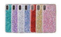 Wholesale Foil Beads - Luxury Sequin Beads Bling Glitter Soft TPU Case For Iphone X 8 7 6 6S Plus Galaxy Note 8 S8 S7 Sparkle Flake Foil Confetti Cover Colorful