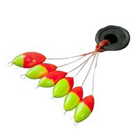 flotador de pesca frijoles espaciales al por mayor-40set = 240pcs Seven-star Oval Mini Fishing Float Space Beans Easy Use Floater Se ponen en forma de tapón y se arreglan