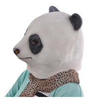 Wholesale Cute Panda Cosplay - Halloween Cute Panda Head Latex Mask Chinese Giant Panda Rubber Animal Masks Carnival Costume Masquerade Cosplay Party Props
