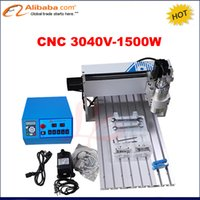 Wholesale Mini Cnc Router Engraving Machine - Wholesale- Mini new 1.5kw cnc 3040 router engraver  engraving drilling and milling machine with limit switch