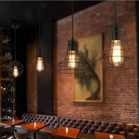 Wholesale Modern Country Pendant Lamp - Edison Bulb Vintage Iron Pendant Light Industrial Loft Retro Droplight Lamps Bar Cafe Bedroom Restaurant American Country Style Hanging Lamp