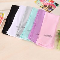 Wholesale uv arm protectors - Wholesale Hicool Golf Arm Sleeves Sun Protection UV Protector Sports Cycling Summer Arm Warmers 7 Colors