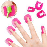 Wholesale Manicure Protectors - Wholesale-Nail Art Beauty 26pcs Glue Model Spill Proof Manicure Protector Tools+ 1 PC French Manicure Stickers nailpolish
